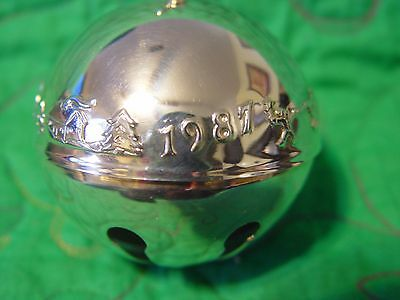 Wallace Silver Plated Sleigh Bell 1987 Trimming the Tree 17th  Edition
