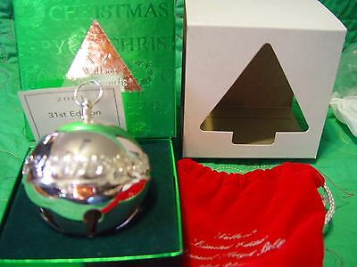 Wallace Silver Plated Sleigh Bell 2001 Christmas Characters w/Box