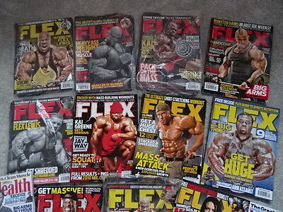 Flex Magazines Muscle & Fitness Mens Health Bodybuilding Job Lot