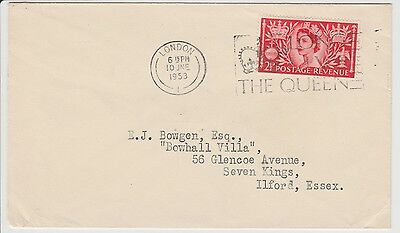 GB, Queens Corination postmark from london