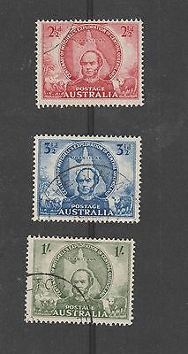 Australia SG 216 - 218 Used, Cent of Mitchell's Exploration of Central Queenslan