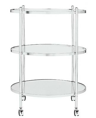 Heart of House 3 Tier Chrome and Glass Drinks Trolley RRP 54.99 lot MHGD
