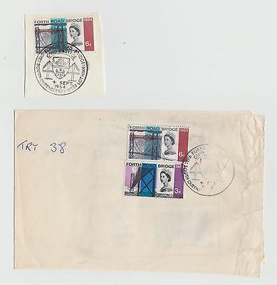 1964 South Queensferry Postmark on Newspaper Wrapper plus addition