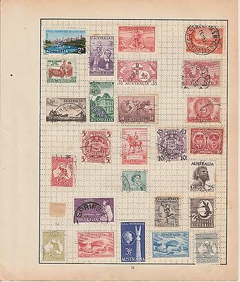 5 x Early to Modern Australia Album pages with stamps