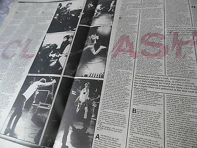 The Clash 1977 U.s.a.debut Tour Four Page With Iconic Pics. From Pennie Smith