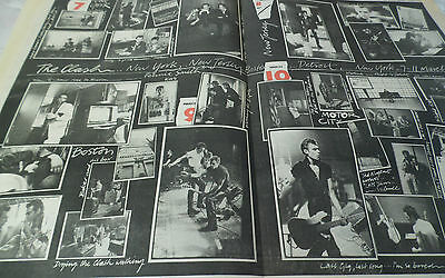 The Clash  In The Usa 1980 Tour Pictures Double Magazine Page Great Item