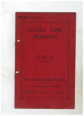 W.R.SYKES SINGLE LINE WORKING SALES BROCHURE, About 1905
