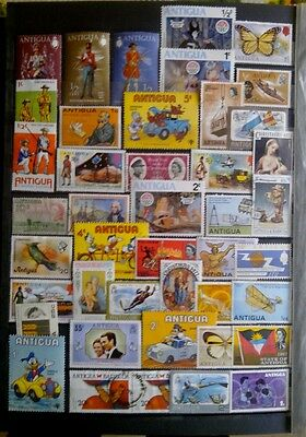Lot timbres antigua belle cote