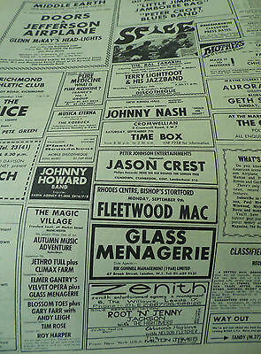 1968 Doors Gig Advert For London Also Jethro Tull , Fleetwood Mac,jefferson Etc.