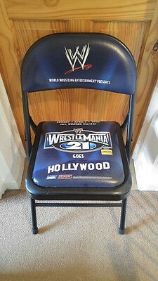 WWF WWE WRESTLEMANIA 21 XXI Ringside Chair Los Angeles Hollywood