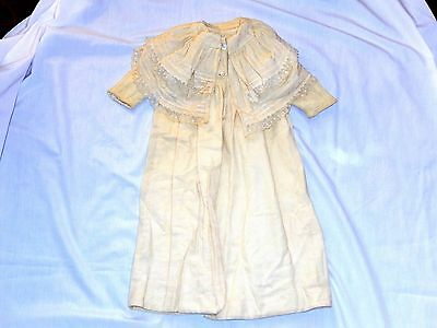 Antique Collectible Baby Corduroy Coat Victorian Ewardian Lace Christening child