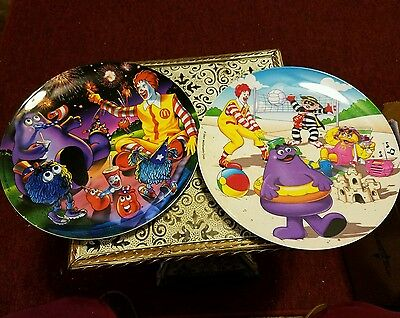 Lot of 2 McDonald's Collectors Plates 2001 and 2002