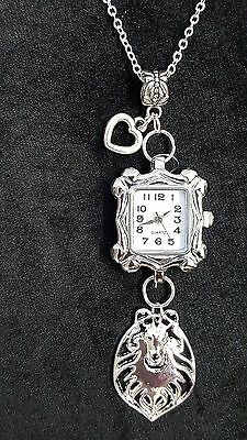 """Collie  Dog, Watch, Clock, Necklace, Pendant 22"""" Chain"""
