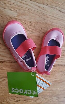 Crocs Girls First Walkers Shoes Pink UK size 6 as per label but i would say 4/5