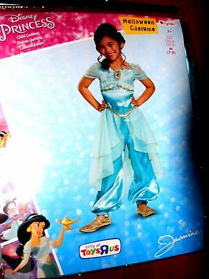 New Disney Princess Aladdin Jasmine Dress Halloween Costume Girl 7-8 Nwt
