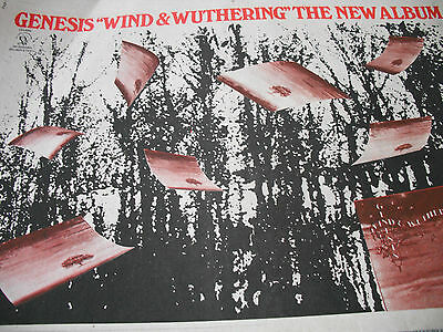 """Genesis 1977 Advert For """"wind & Wuthering"""" A3 Full Page Advert"""