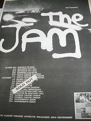 """The Jam 1980 """"sound Affects"""" Album & Tour Advert """"sold Out"""" A3"""