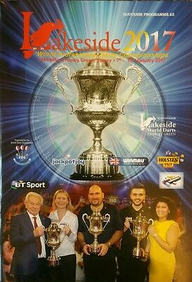 2017 Lakeside BDO World Darts Championships Programme hand signed by Bob Potter.
