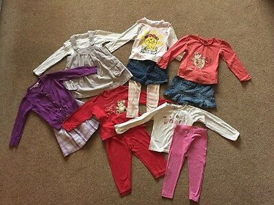 Bundle of Girls Clothes Age 2-3 Years Tops Skirts Leggings Shorts Pinafore Cardi