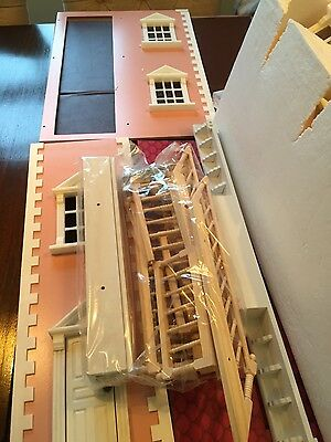 pink dolls house ready to assemble plus furniture