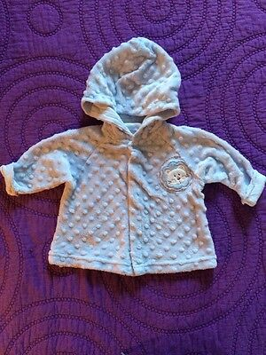 Baby Boy Or Girl's Size 6 Months Soft Pale Blue Fleece Hooded Jacket