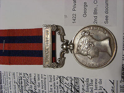 IGS Medal Burma 1887-89 Cheshire Regt from Repton near Burton On Trent Derby