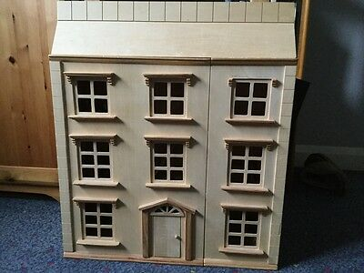 Wooden Dolls House hand made with furniture