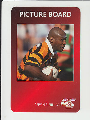 Rugby League : Ellery Hanley : England : UK sports game card - red back