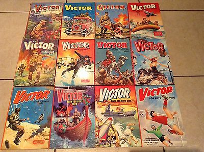 The Victor Book for Boys Annuals 1966,1973,1974,1975,1976,1979,80,81,82,83,86,90