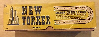 Vintage Advertising New Yorker Brand Sharp Cheese Food Box