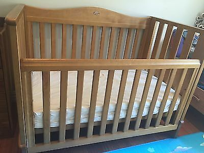 Beautiful wooden Boori Country Collection Cot-bed and sides