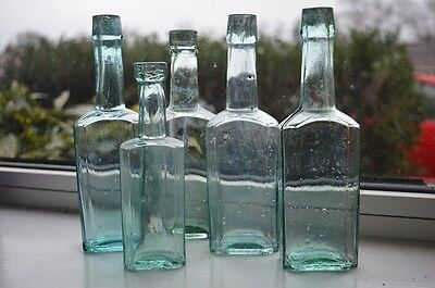 Vintage bottles x5 (15 to 19 cm)
