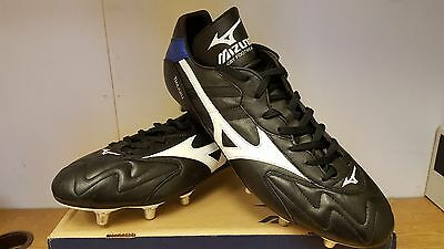 Mizuno Mens Rugby Boots Black/Blue/White Size UK 14
