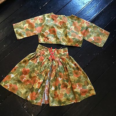 50s reworked VINTAGE top skirt SUIT two piece 8