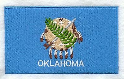 """Oklahoma State Flag Embroidered Patch 3.3"""" x 2"""""""