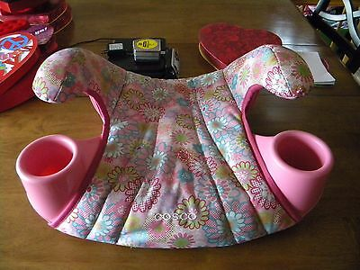 Girls Pink Booster Safety Car Seat Backless 2 Cup Holders COSCO 40-100 lbs  EUC!