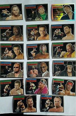 topps wwe heritage superstars cards set of 17