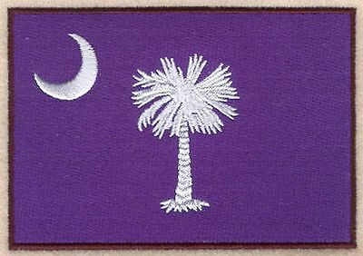 """South Carolina State Flag Embroidered Patch 3.1"""" x 2.1"""""""