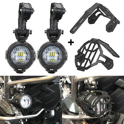 Motorcycle LED Auxiliary Driving Fog Light & Protect Guard For BMW R1200GS ADV