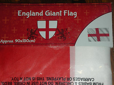 England Giant Flag approx 3ft x 5ft (90 x 150 cm)