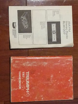 Owners Manual 1976 Triumph TR7