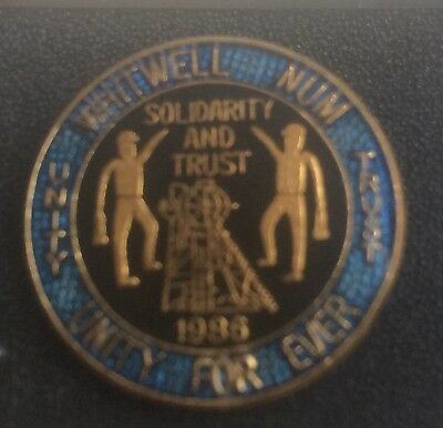Mining Badge Whitwell Colliery 1984/85 Miners Strike Num Badge