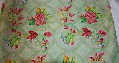 BTY Tracy Porter Jo-Ann Fabric Floral 43/44 Decorator Country Cottage 6 yds TTL