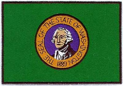 """Washington State Flag Embroidered Patch 3.1"""" x 2.1"""""""
