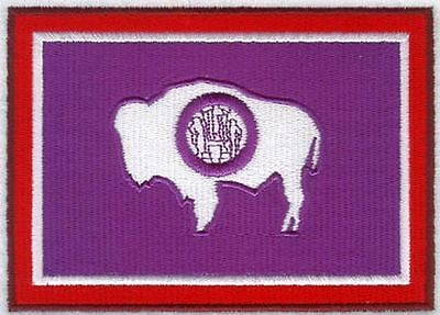 """Wyoming State Flag Embroidered Patch 3"""" x 2.1"""""""