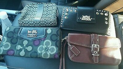 used WHOLESALE ReSale Lot 4 WOMENS WRISTLETS WALLETS coach juicy