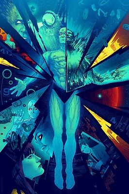 MONDO Screen Printed Poster Watchmen Dr Manhattan Kevin Tong