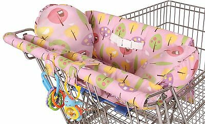 Leachco Prop 'R Shopper Body Fit Shopping Cart Cover Pink Forest Frolics