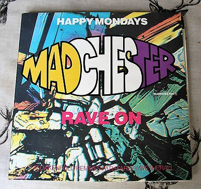 """Happy Mondays - Madchester Rave On - Vinyl 12"""" - Oakenfold Remixes (Wetherall)"""