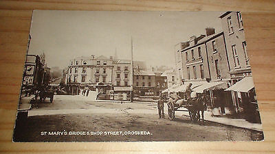 Old Postcard ST. MARY'S BRIDGE & SHOP STREET, DROGHEDA, Publ. by Farrell